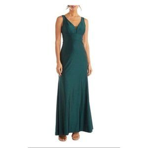 Morgan & Co Cutout Back Satin Gown Size 7 NEW